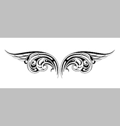 Tribal wings tattoo vector image