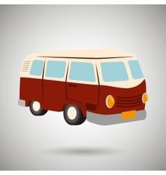 van tourist design vector image