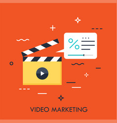 video marketing concept vector image
