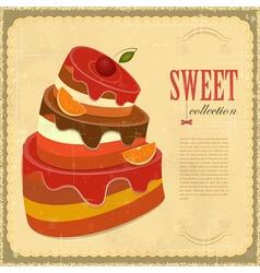 Vintage pastry Menu vector image