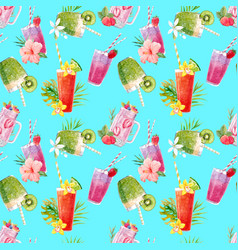 watercolor smoothie pattern vector image