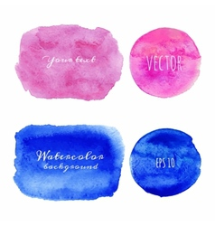 Wet Watercolor Backgrounds Hand Painted vector image