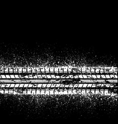 White ink tire track vector