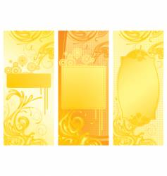 Yellow backgrounds vector