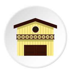 Barn for animals icon circle vector