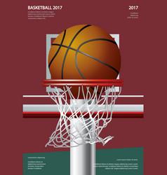 basketball poster advertising vector image