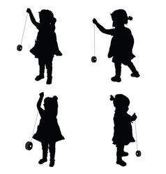 children cute with yo yo vector image