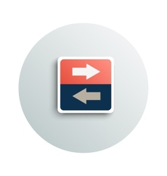 Modern app icon of transfer business concept vector image
