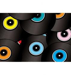 record montage vector image