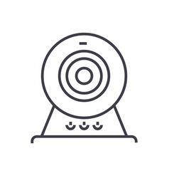web camonline camera line icon sign vector image vector image