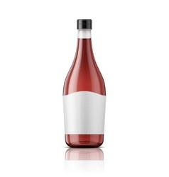 Wine vinegar bottle with cap and label vector image