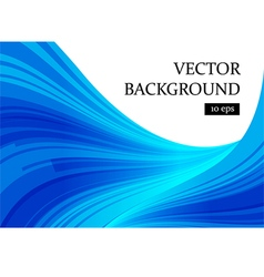 Abstract blue and white curve background vector image