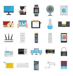 flat design style icons of vector image