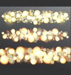 golden glowing effects with sparkles vector image vector image
