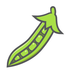 Peas colorful line icon vegetable and diet vector