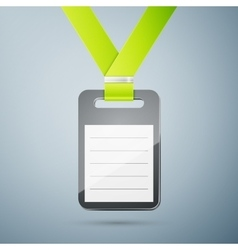 Plastic id badge vector