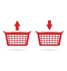 basket shop red vector image