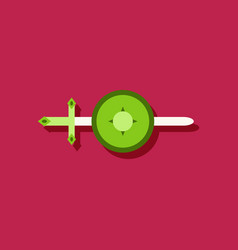 flat icon design collection sword and shield in vector image vector image