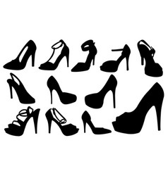 set of different women shoes vector image
