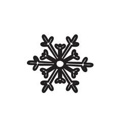 snowflake sketch icon vector image