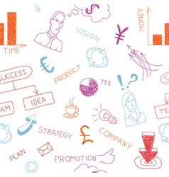 Business colorful doodles vector image vector image