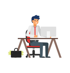 businessman at his workplace vector image vector image