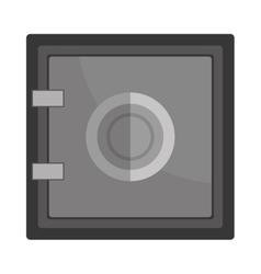 Deposit strongbox flat icon design vector image
