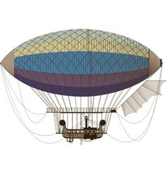 Fantastic retro dirigible vector image vector image