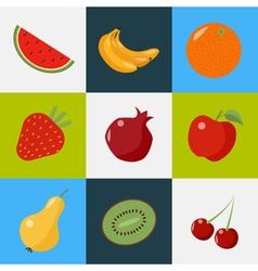Fruits Set Healthy Food Vegeterian Food Healthy vector image