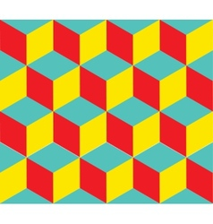 Geometric background Cube shapes Optical vector image vector image