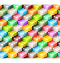 geometric seamless pattern with bright colored vector image