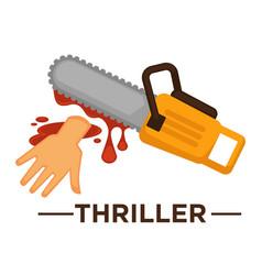 movie genre thriller cinema icon of saw vector image vector image