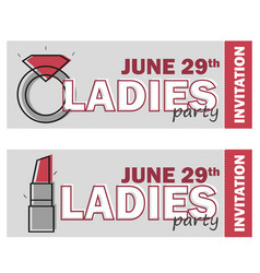 template for ladies night party flyer vector image vector image