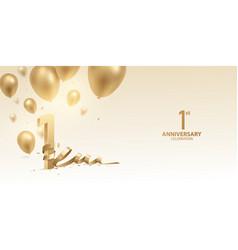 1st anniversary celebration background vector