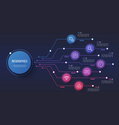7 options infographic design structure vector image