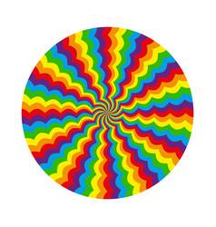 Abstract circular pattern of multicolored wavy vector
