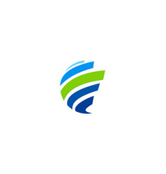 abstract shape globe logo vector image
