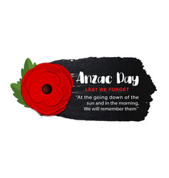 Anzac day poster on a hand drawn ink vector
