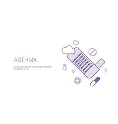 asthma disease health care sickness treatment vector image