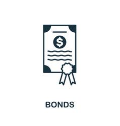 Bonds icon creative element design from stock vector