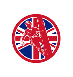 British linesman union jack flag icon vector