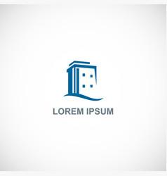 building shape hotel logo vector image