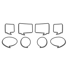 bw speech bubbles vector image