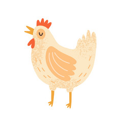 childish cute cock in simple scandinavian style vector image