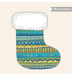 christmas stocking for gifts vector image