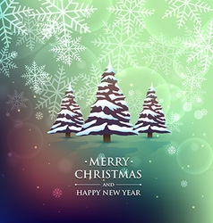 christmas tree on colorful background vector image