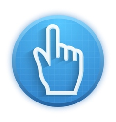 Click ursor icon mouse hand vector image