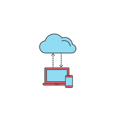 Cloud computing symbol download social network vector