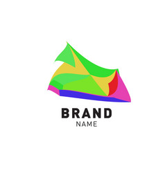 colorful liquid abstract logo design vector image