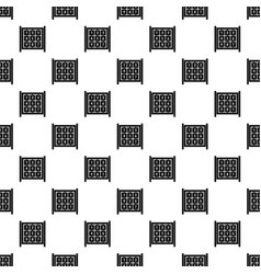 Cubes with numbers on playground pattern vector